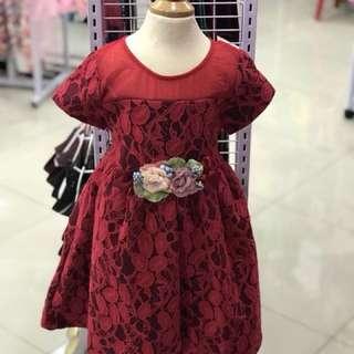 Red Flower Girl Dress ❤️