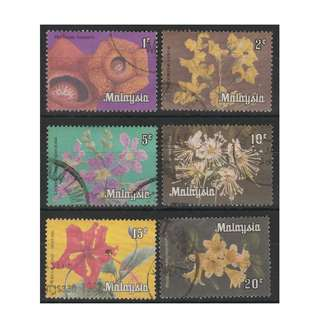 MALAYSIA 1979 Flowers Series WP 1c-20c used SG #K1-K6 (0095)
