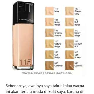 SALE Fit me foundation maybelline
