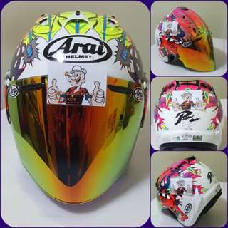 0701♡♡TSR RAM4 Scott Russell Helmet CONVERT TO ARAI 🦀 For SALE, Yamaha Jupiter, Spark, Sniper,, Honda, SUZUKI