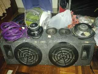 Speaker, woofer and rca signal interlink cable