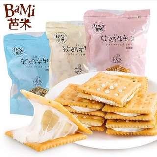 芭米 牛軋糖餅乾 180g x2