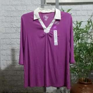 Plus Size Just My Style Collared Top 2X