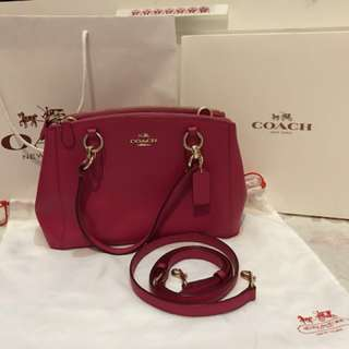 Coach christie crossgrain leather satchel
