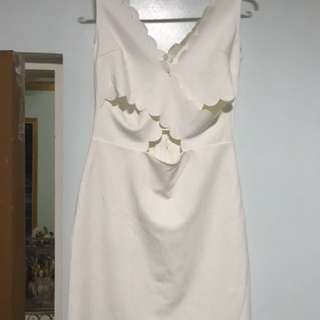 White sleeveless dress