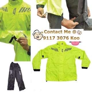 0701*** Givi Raincoat RRS05 Neon Yellow 🤣🤣Thanks To All My Buyer Support 👌👌