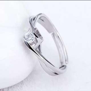 Silver 925 心型設計閃石介指