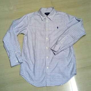 Ralph Lauren Boys Long Sleeve Checked Shirt - Preloved S/16