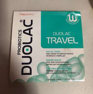 Duolac probiotic travel