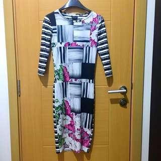 Topshop Bodycon Printed Dress (swipe 👉🏼)