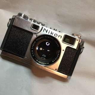 NIKON S2 AND F1.4 lens RANGEFINDER.