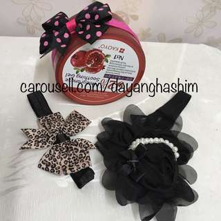 PROMO COMBO! Colourful Baby Girl Lace Headband With Gift