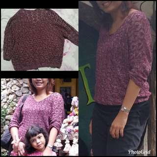 Knitted Pullover Maroon