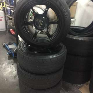 SSR Type C replica with Bridgestone Re71R