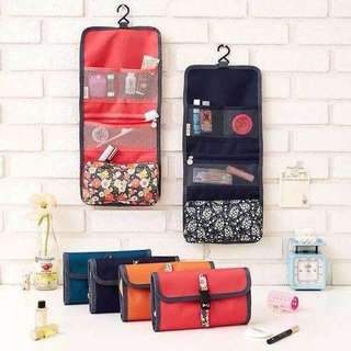 Hanging Foldable Makeup Vanity Travel Pouch Organizer