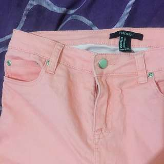Forever 21 Pink Skinny Jeans