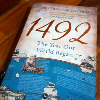 1492 The Year Our World Began by Felipe Fernández-Armesto (novel)