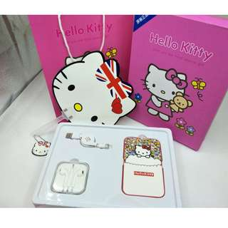Hello Kitty Power Bank 3pcs Set 8800Mah ( Android Cable/ And Earpieces)