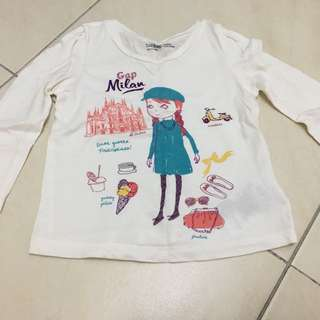 Gap girl long sleeve shirt