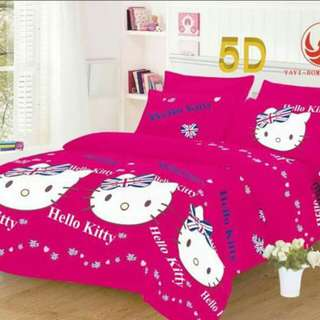 COD 5D 4 IN 1 BEDSHEET W/ CURTAIN