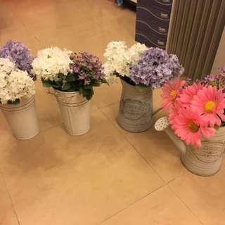 Flowers and pot(all)
