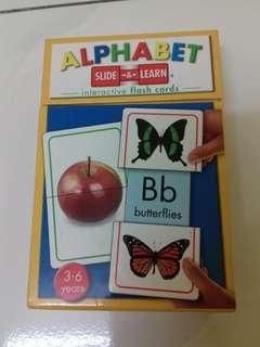 Alphabet Slide & Learn Flashcards