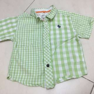 Poney boy checked shirt
