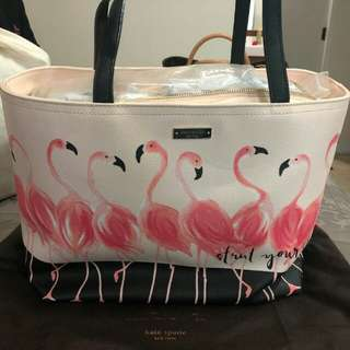 LIKE NEW Kate Spade Flamingo Tote