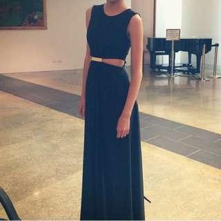 Black N Gold Dress
