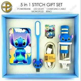 Mobile Cellphone Accessories 5 in 1 Stitch Gift Set