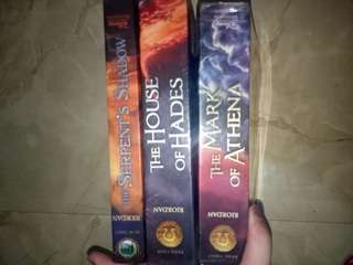 Rick Riordan's books ((HOH is sold out already))