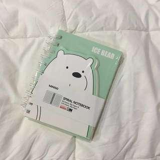 We Bare Bears Ice Bear Notebook