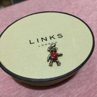 Links of london 心型熊仔吊墜