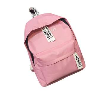 Backpack Pink Hellou Canvass