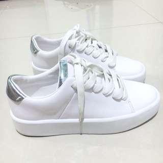 Zara White Silver Sneakers