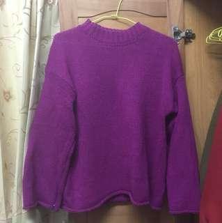 🚚 粉紅色寬袖毛衣