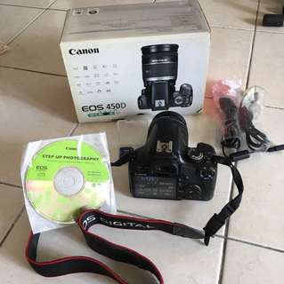 Canon 450D, 18-55mm (made in Japan set)