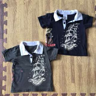 Ad Hardy T-shirts, 3-6 months