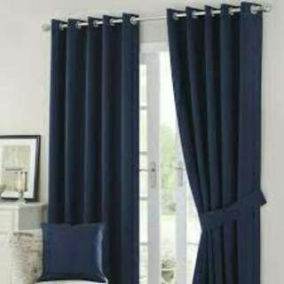 Navy blue blackout curtain