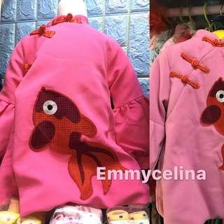 特厚 可當衫或裙 深粉紅或桃紅 9、11、13碼