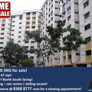 Breezy and spacious HDB 3NG flat for sale in HOUGANG!