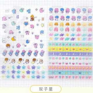[PO] Little Twin Stars Mini Stickers