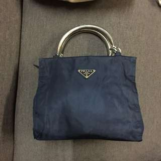 Authentic Prada Nylon Steel Handle