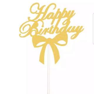 Birthday/wedding/party cake topper A012