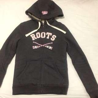 🚚 Roots 女S厚刷毛連帽外套