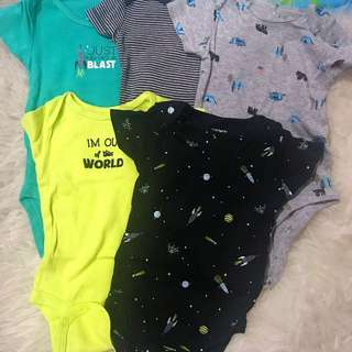Carters 5pcs Rompers Set