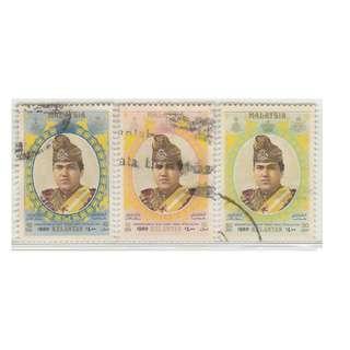 MALAYSIA 1980 Kelantan - Coronation of Sultan Tengku Ismail Petra 3V used SG #130-132 (0151)