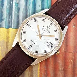 Wittnauer Geneve Longines Crosshair Dial Automatic Vintage Watch