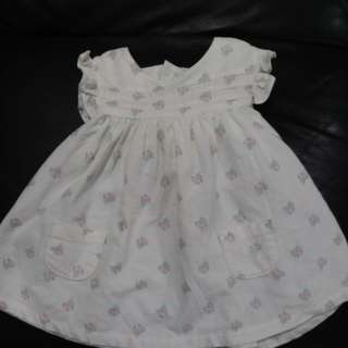 O to 3 month white dress