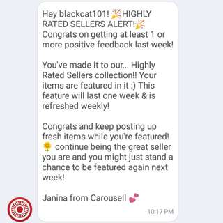 2nd! Thanks Carousell 😘